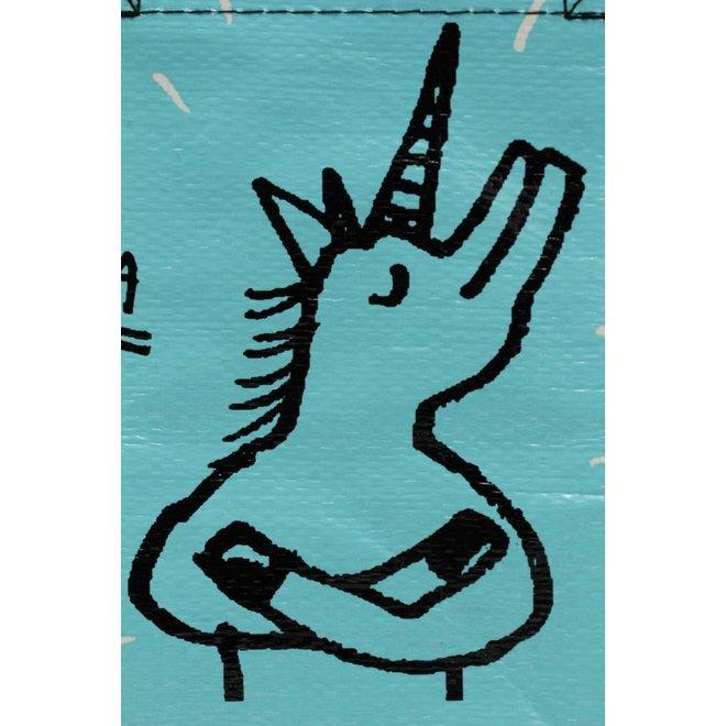 Blue totebag - Special Unicorn