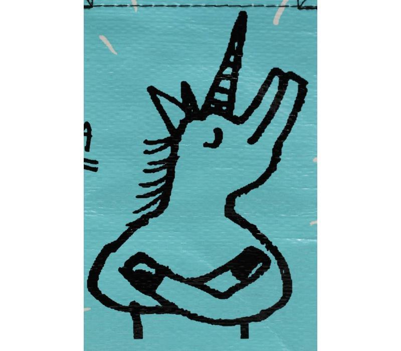 Blauwe totebag - Special Unicorn