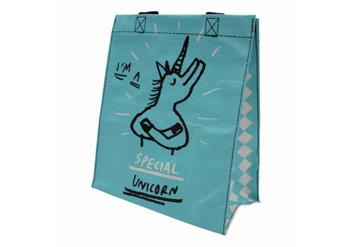 Blue unicorn totebag - Copy