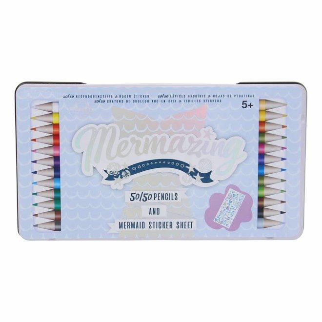 Color pencil set 50/50