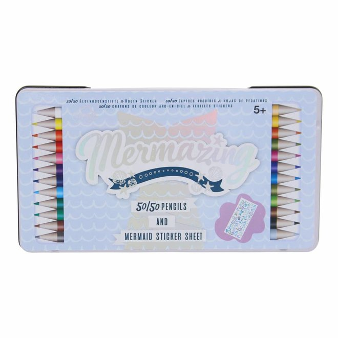 Potlodenset 50/50 - 24 kleuren