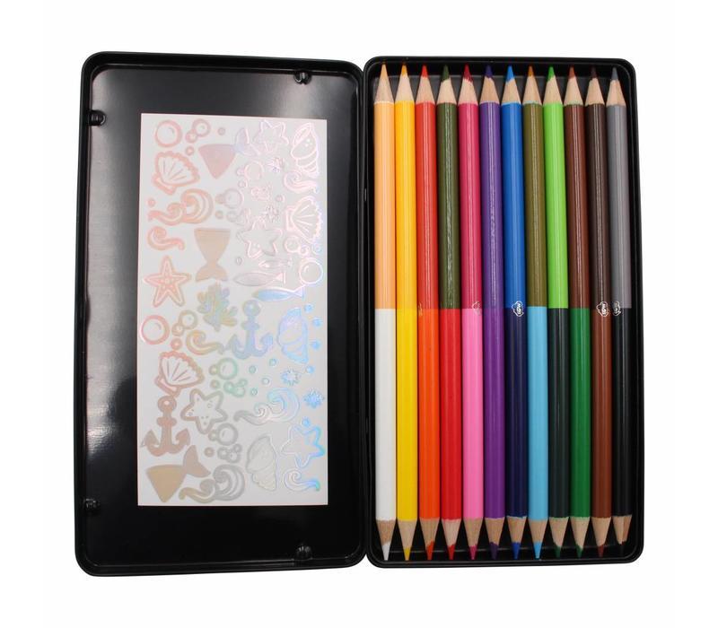 Color pensil set 50/50 - 24 colors