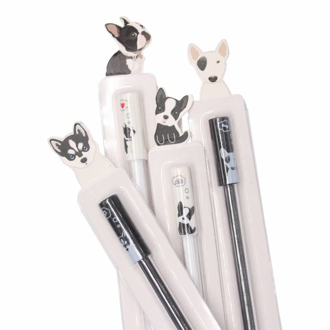 Cute French bulldog gel pen