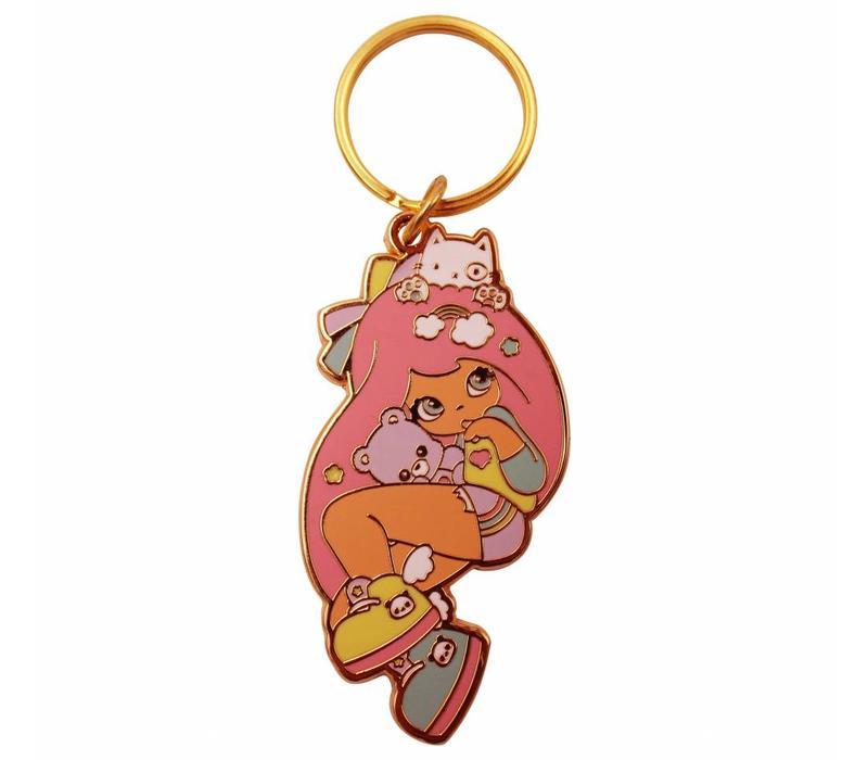 Kawaii girl sleutelhanger