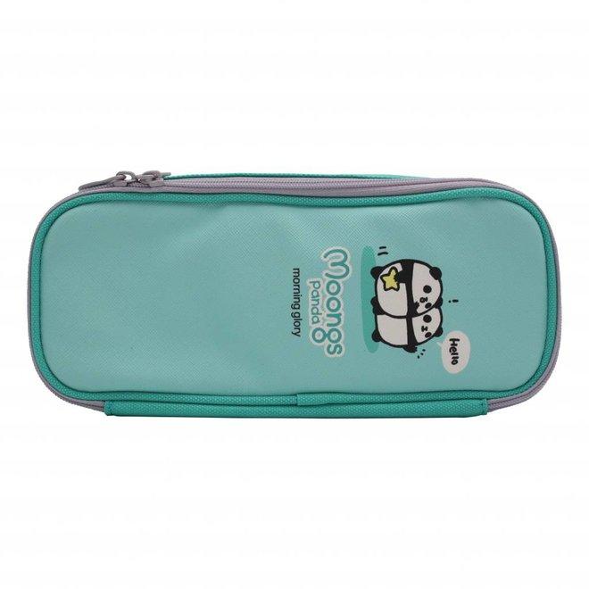 Moongs pattern pencil case - mint green