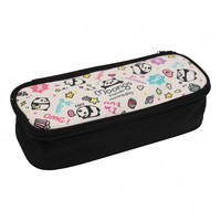 Moongs pattern pencil case - black