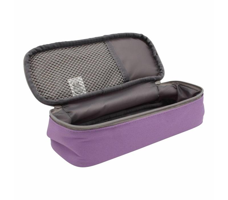 Moongs pattern pencil case - purple