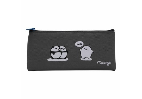 Moongs Moongs pencil case small - grey