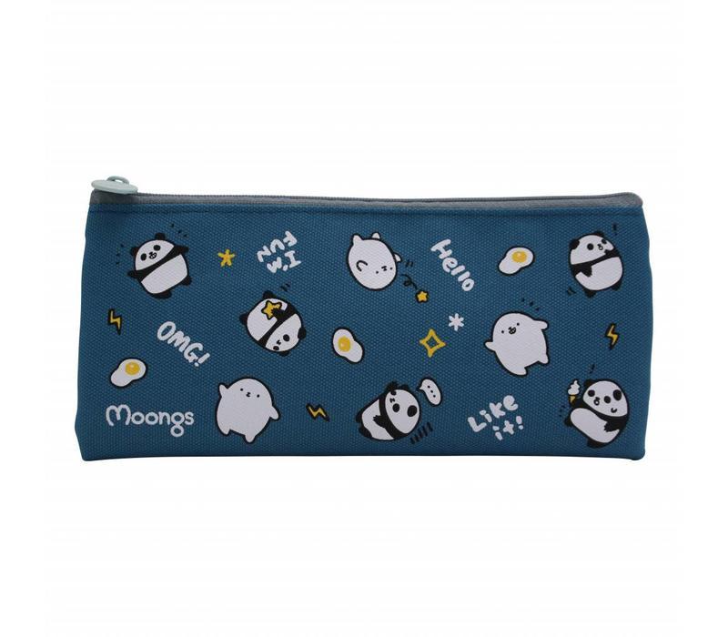 Moongs pencil case - dark blue