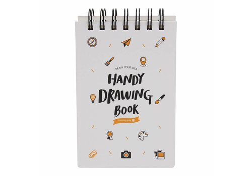 Moongs Moongs drawing book - white