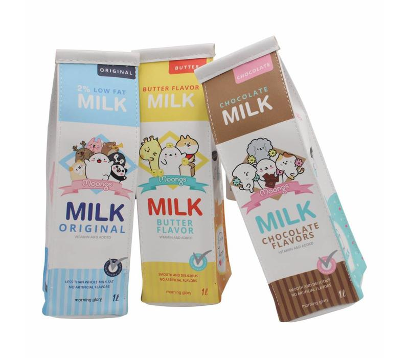 Moongs milk carton pencil case - low fat milk