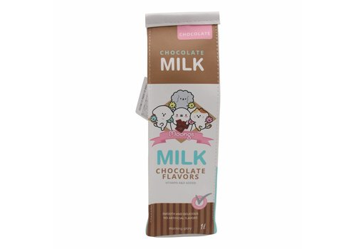 Moongs Moongs milk carton pencil case - chocolate