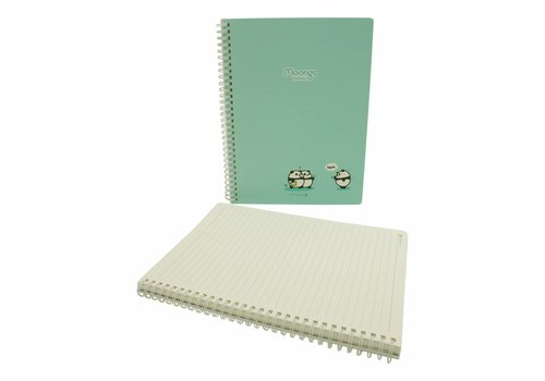 Moongs Moongs panda  large notebook - turquoise