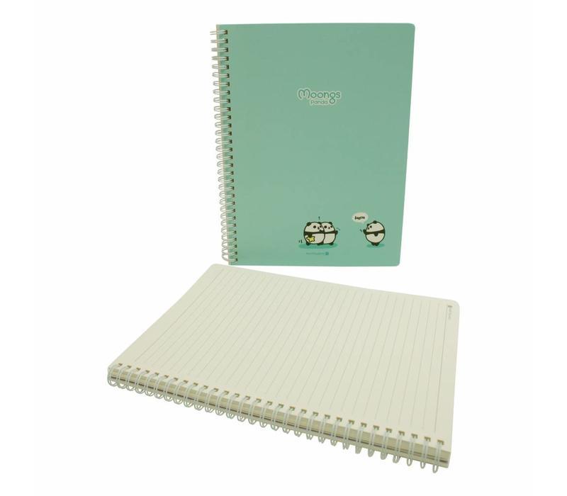 Moongs panda  large notebook - turqoise