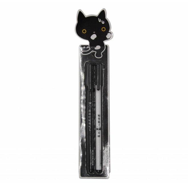 Miao gel pens - Black cat