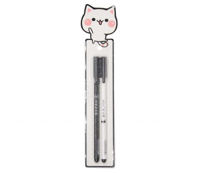 Miao gel pens - white cat