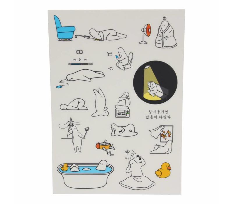 Mr. Donothing sticker set