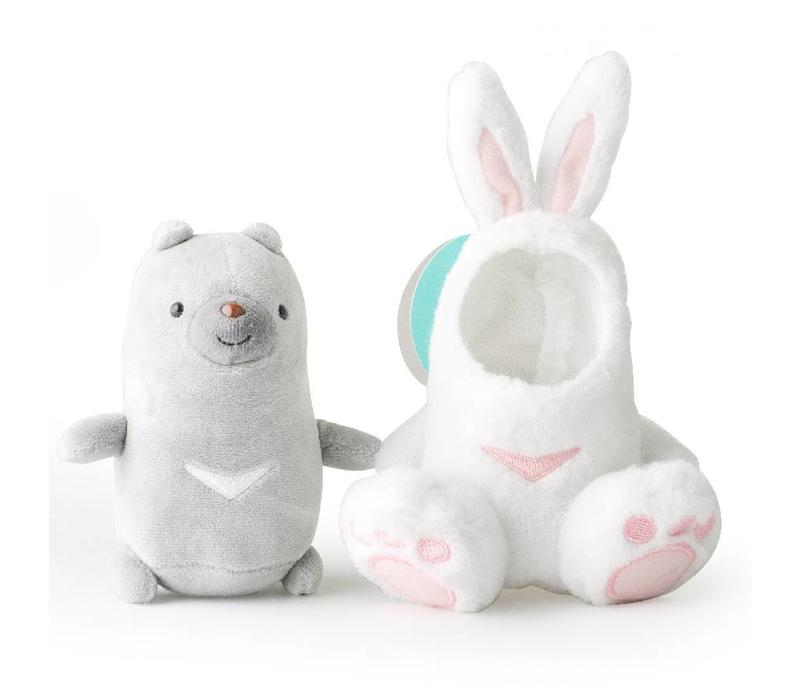 Plush Duma in separate rabbit suit - 17 cm