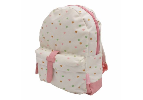 Kidzroom Creamy white backpack with hearts