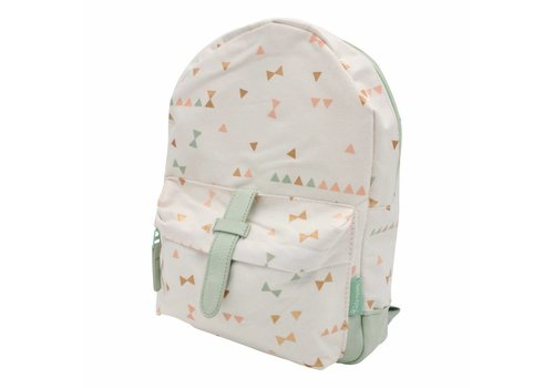 Kidzroom Creamy white backpack with triangles