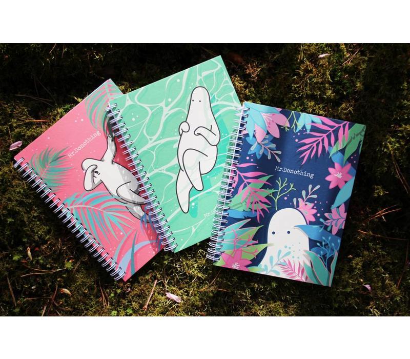 Spring notebook Blue