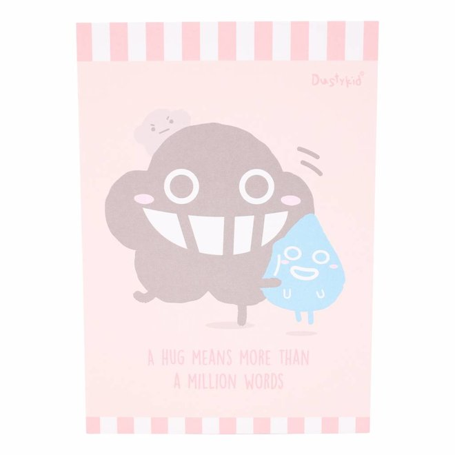 Dustykid notepad - Hug