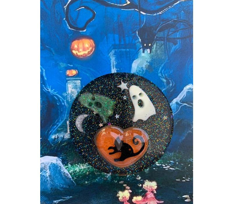 Halloween magnet - round