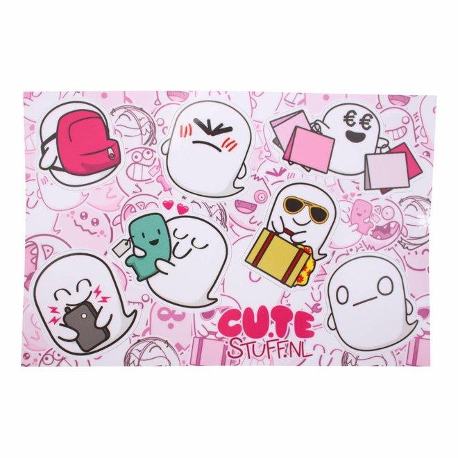 CuteStuff sticker sheet