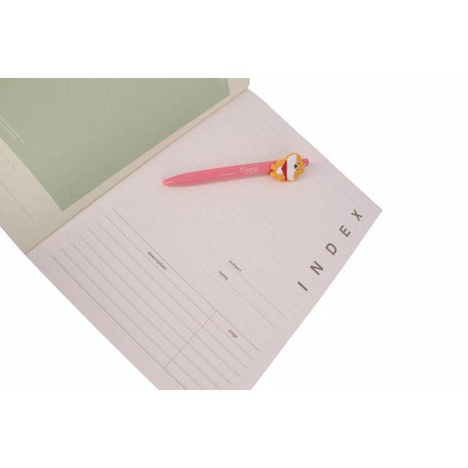 Moongs notebook  large - green