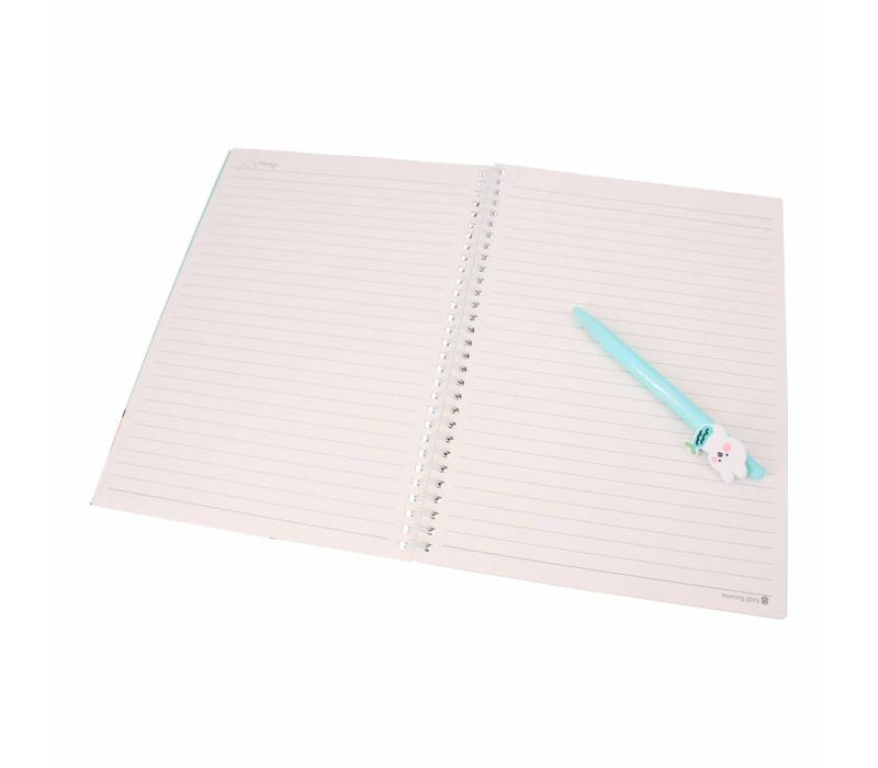 Moongs notebook hardcover - geel