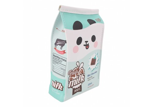 Moongs Moongs milk carton pencil case wide - mint chocolate