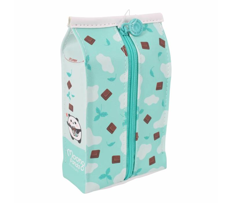 Moongs milk carton pencil case wide - mint chocolate