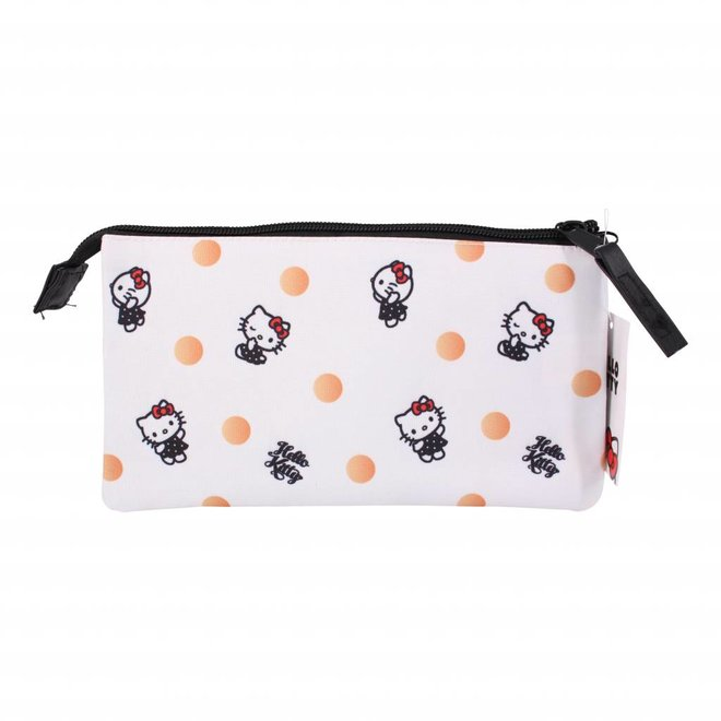 Hello Kitty drievoudige etui - Polka Dots