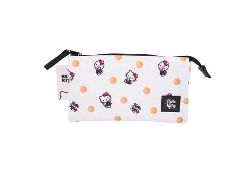 Hello Kitty Hello Kitty drievoudige etui - Polka Dots
