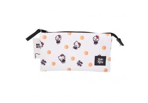 Hello Kitty Hello Kitty triple pencil case - Polka Dots