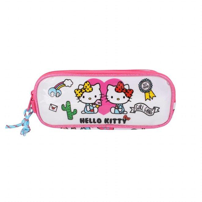 Hello Kitty dubbele etui - Girl Gang
