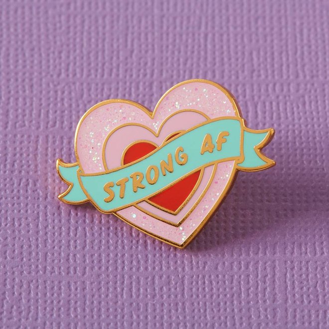 Punky Pins emaille Pin - Strong AF