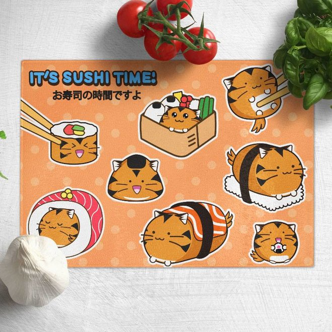 Fuzzballs chopping board - It's sushi time
