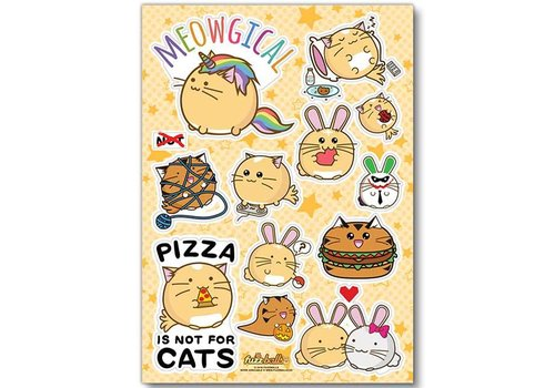 Fuzzballs Stickervel - Meowgical