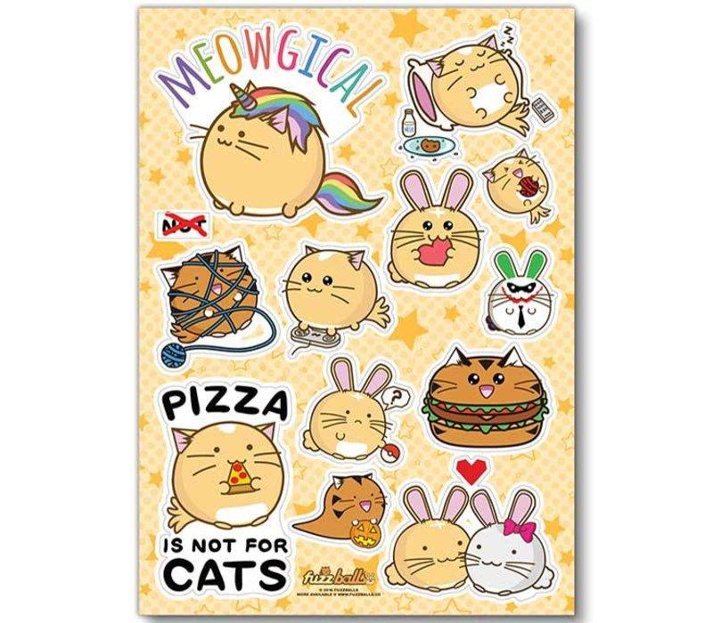 Fuzzballs Sticker sheet A6 - Meowgical