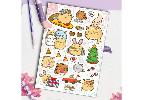 Fuzzballs Sticker sheet - Awesome