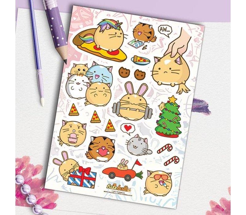 Fuzzballs Sticker sheet A6 - Awesome