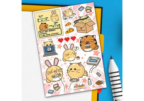 Fuzzballs Sticker sheet - Video Games