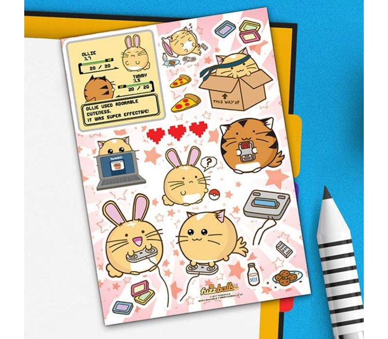 Fuzzballs Sticker sheet A6 - Video Games