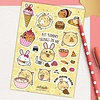 Fuzzballs Fuzzballs Stickervel A6 - Om nom nom