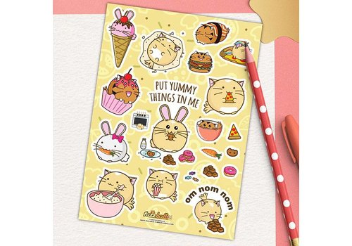 Fuzzballs Sticker sheet - Om nom nom