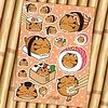Fuzzballs Fuzzballs Sticker sheet A6 - Sushi