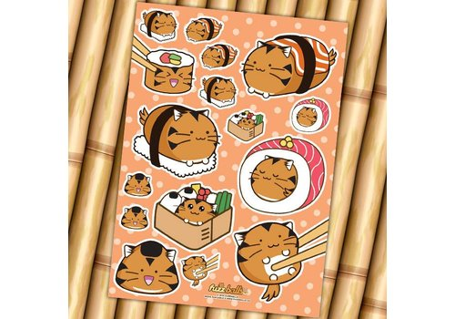 Fuzzballs Stickervel - Sushi
