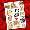 Fuzzballs Fuzzballs Sticker sheet A6 - Love