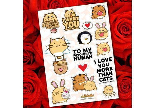Fuzzballs Sticker sheet - Love